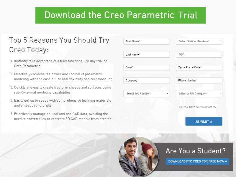 PTC Creo Software Trial